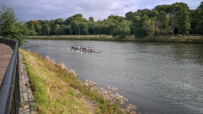 Rowers on the River Lagan